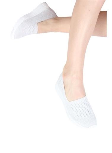 Modabuymus Modabuymus  Triko Örgülü Anatomik Spor Ayakkabı - Tolep Beyaz